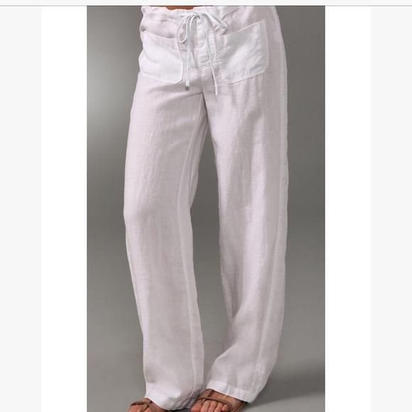 066d7bdf5c Vince white linen drawstring button beach pants. M_5aec44ef8af1c53c7c165a4a